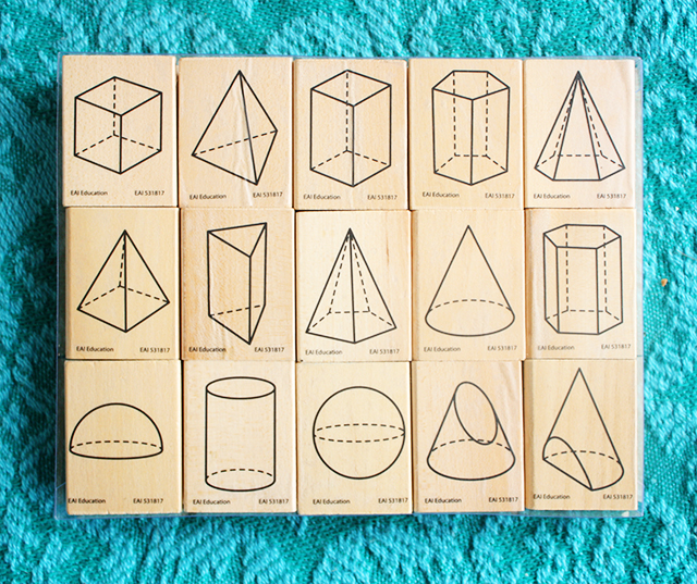 geometric stamps from present and correct