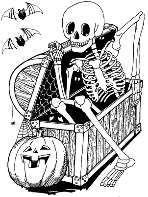 detailed halloween coloring pages - photo#15