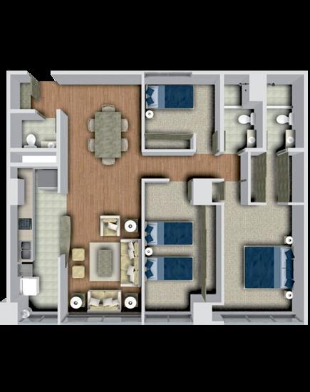 Planos de casas y plantas arquitect nicas de casas y for Planos de casas de tres recamaras
