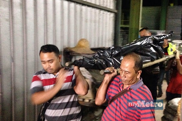 Penemuan mengejutkan mayat pekerja kilang dawai ditemui dalam keadaan disarung dengan guni dan ditindih dengan dawai