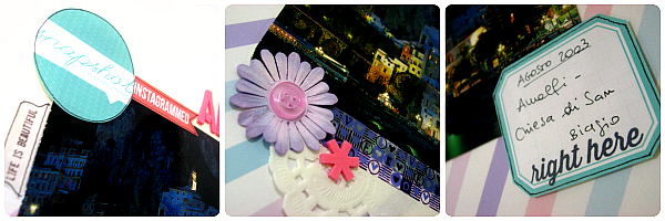 Dettagli degli abbellimenti sul mio layout su Amalfi - Details of the embellishments on my layout about Amalfi