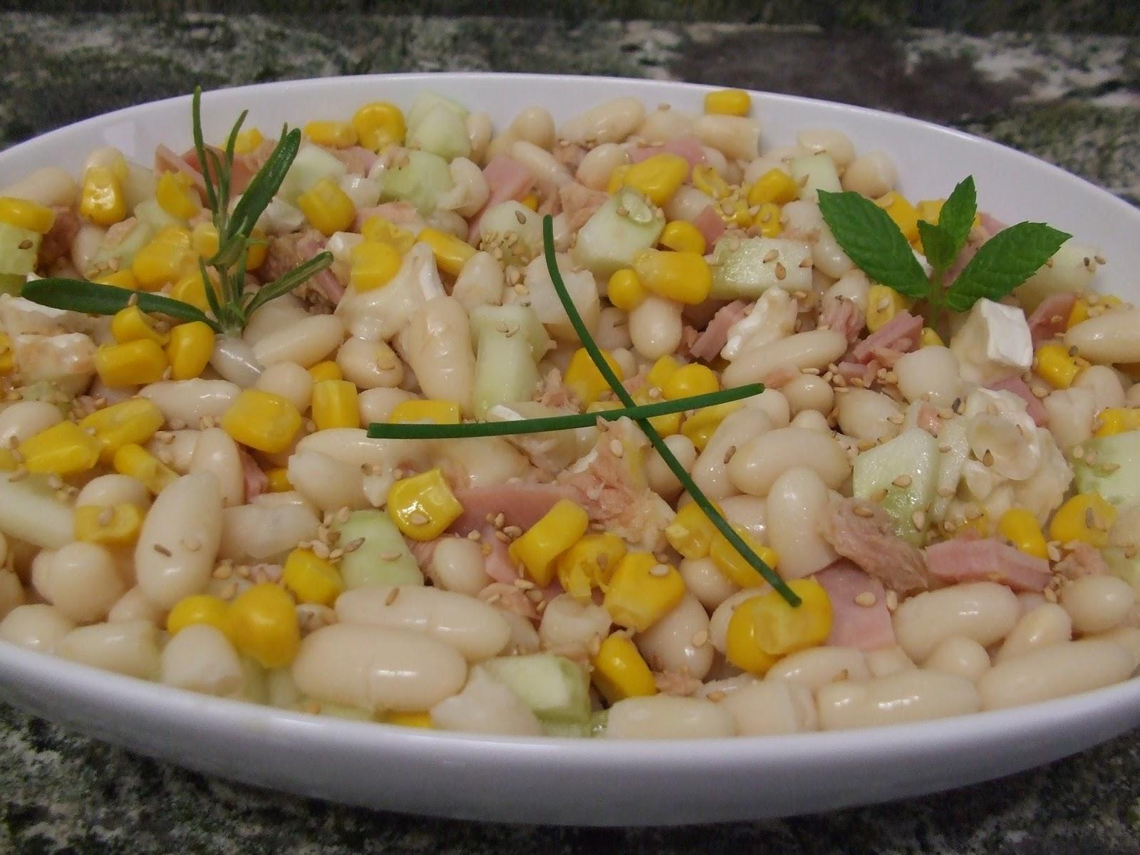 Javier abadias y sus recetas ensalada de alubias blancas for Cocinar judias blancas de bote