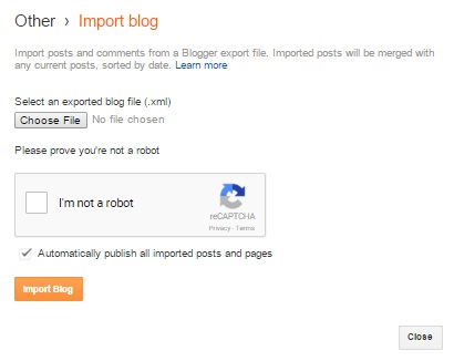 cara eksport dan import blog