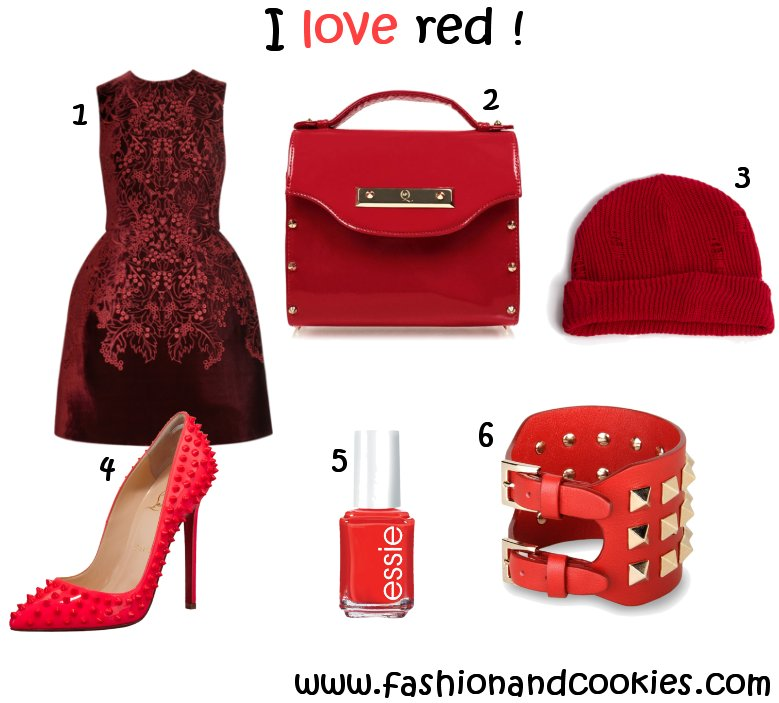 red wishlist on www.fashionandcookies.com, Fashion and Cookies