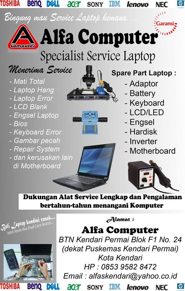 Tentang Alfa Computer Service Laptop Kendari
