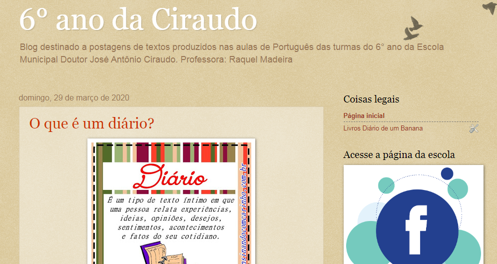 Blog do 6° ano da Ciraudo