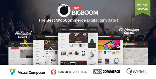 Free Download Bigboom V1.1.8 - Responsive Ecommerce WordPress Theme