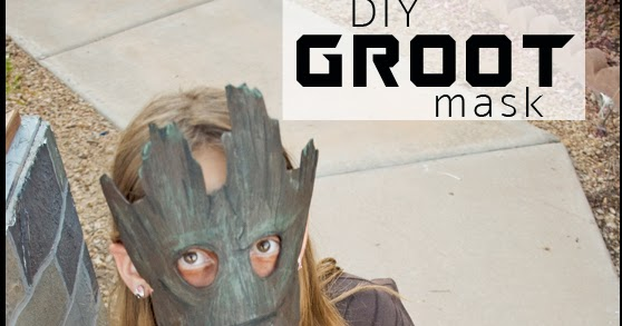 lady goats  last minute costume idea  diy groot mask for