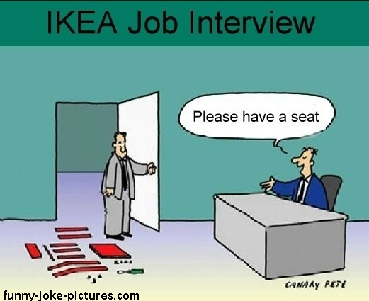 Funny Job Interview Question Joke Cartoon Picture