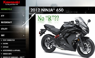 2012 Kawasaki ninja 650 with no R