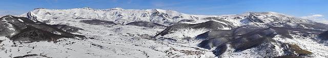 Sierra de Hijar panorámica invernal