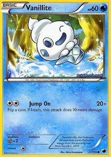 Vanillite Plasma Freeze Pokemon Card
