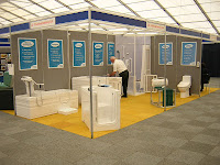 Practical Bathing setting up for the Mobility Roadshow