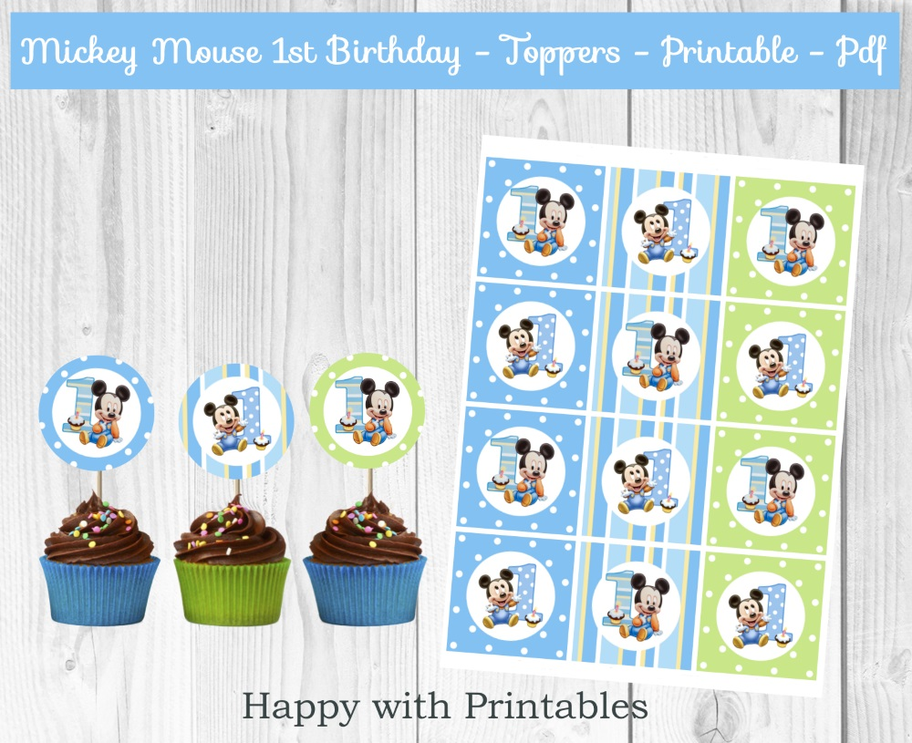 MICKEY MOUSE 1st PRINTABLES