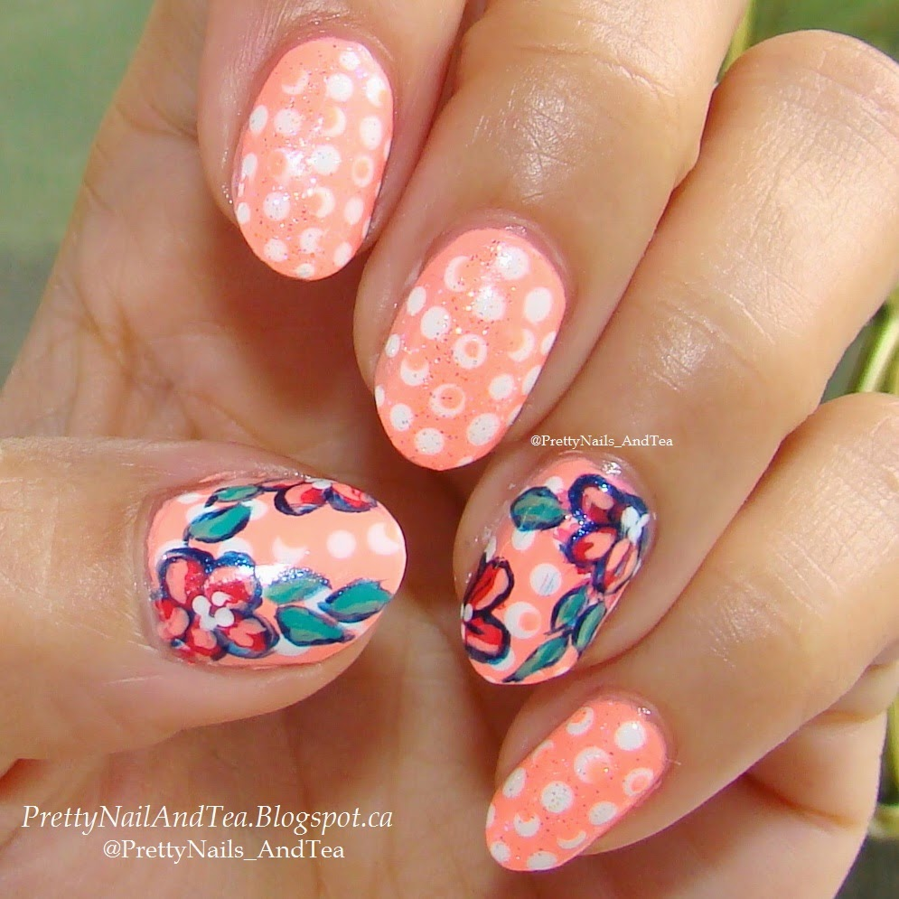Peach Flowers and Doticure