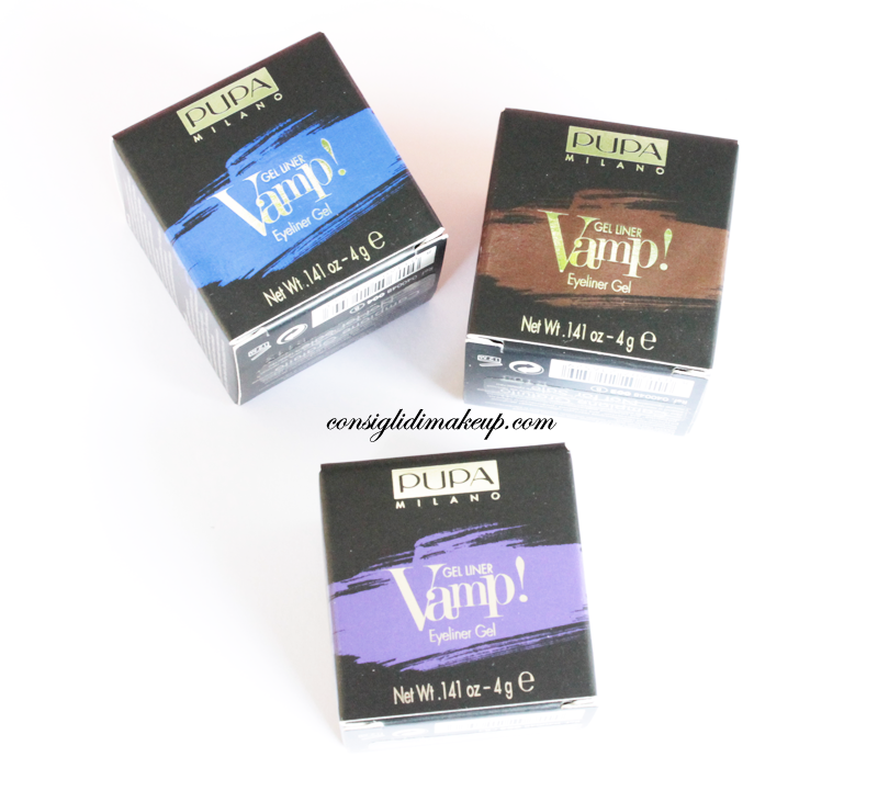 Review: Vamp! Gel Liner nr 002-003-004 - Pupa Milano