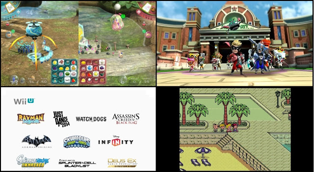 Screenshots of Wii U games featured in Nintendo Direct mini presentation held on 7/18/13