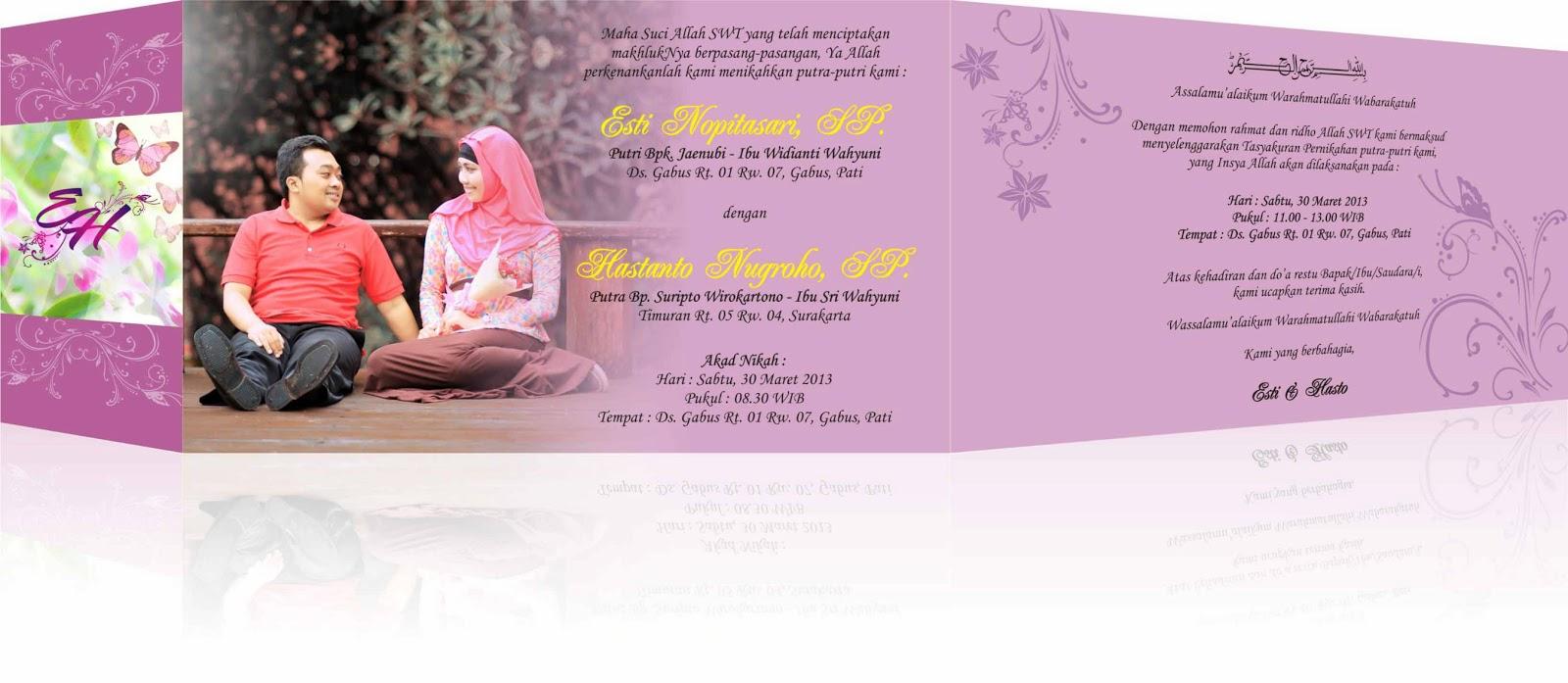 Contoh Undangan Pernikahan Pink Hcgd Desain Dan Percetakan