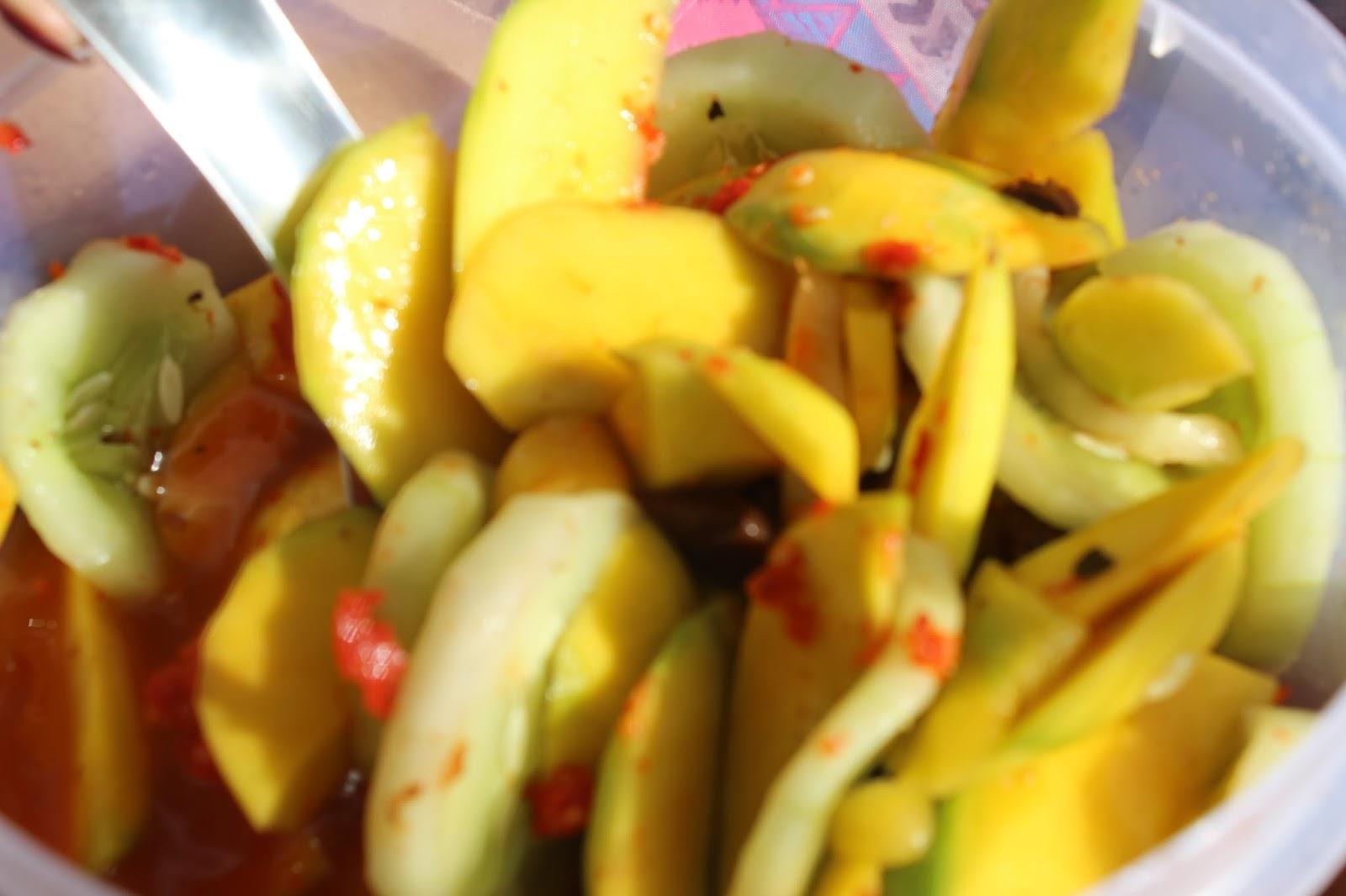 Mauritian Konfi, fruit salad