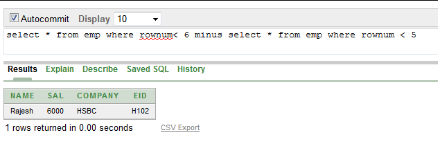 SQL: Display 5th row from a table