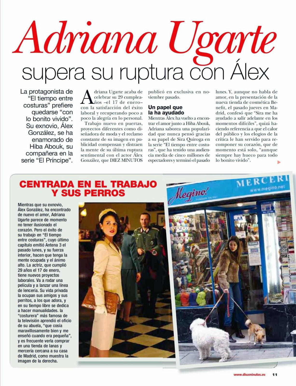 Adriana Ugarte Diez Minutos Spain Magazine Photoshoot January 2014 HQ Pics