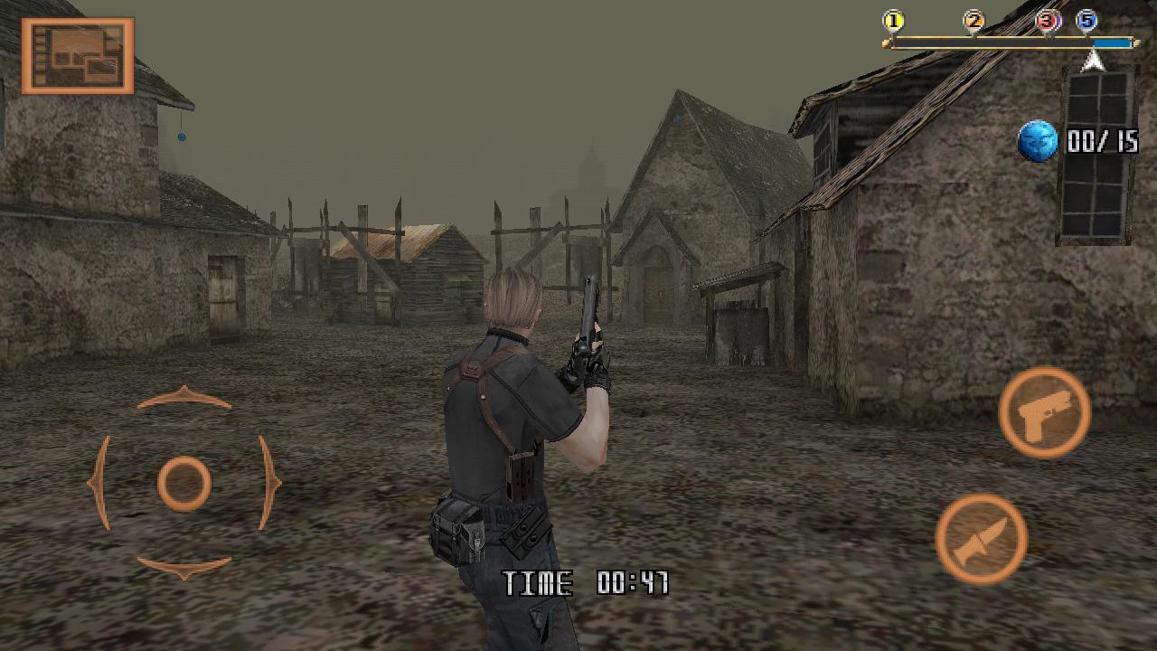 Resident Evil 4 v1.00.00 Inglês Resident-Evil-4-para-Android-Pantalla