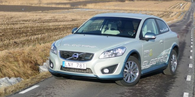 Volvo C30 Electric from the front