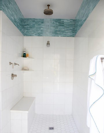 shorely chic: an all white bathroom