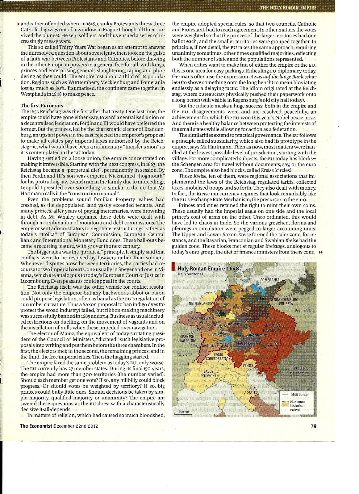 holy roman empire essay The roman empire consisted of caesar [ king] and a group of senators it was a form of government the holy roman empire was.