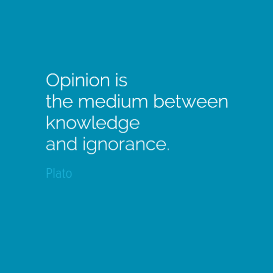 plato opinion medium knowledge ignorance