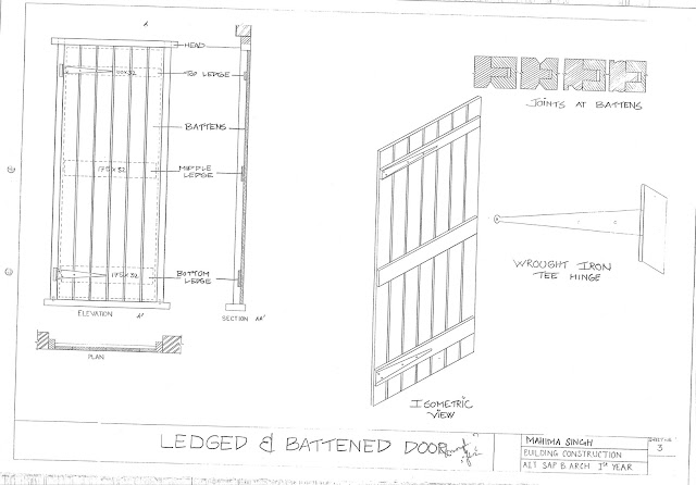 Ledged Braced And Battened Door  sc 1 st  Architecture Portfolio(UG) - Blogger & Architecture Portfolio(UG): Doors And Windows