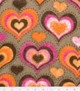 Hearts on brown