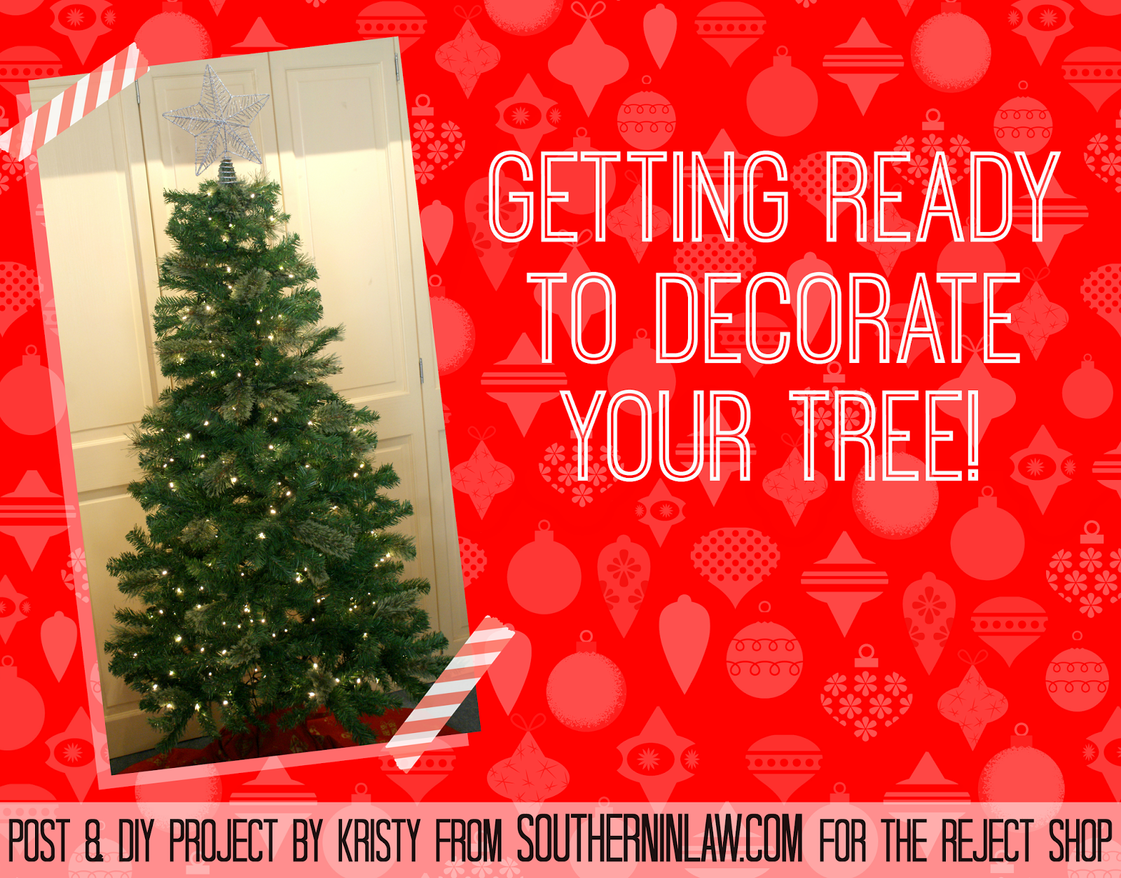 How to decorate a Christmas tree on a budget