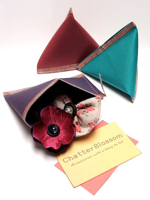 Sewn paper pouches for gift wrap