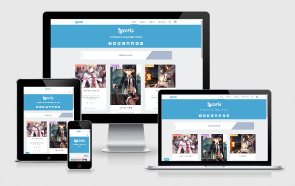 Lycoris Responsive 1.1 ALT Blogger Template