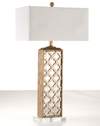 Horchow Mirrored Capiz Lamp