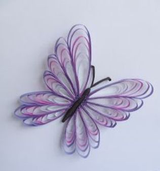 Easy paper quilling butterfly for kids art crafts ideas they can tryto make different butterflies with different wings and more colors its fun glue them on cards and use them for a birthday or as invitation stopboris Choice Image