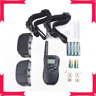 Electric Remote Training Dog LCD Shock Control Collar for 2 Dogs Pet Anti-Bark 1