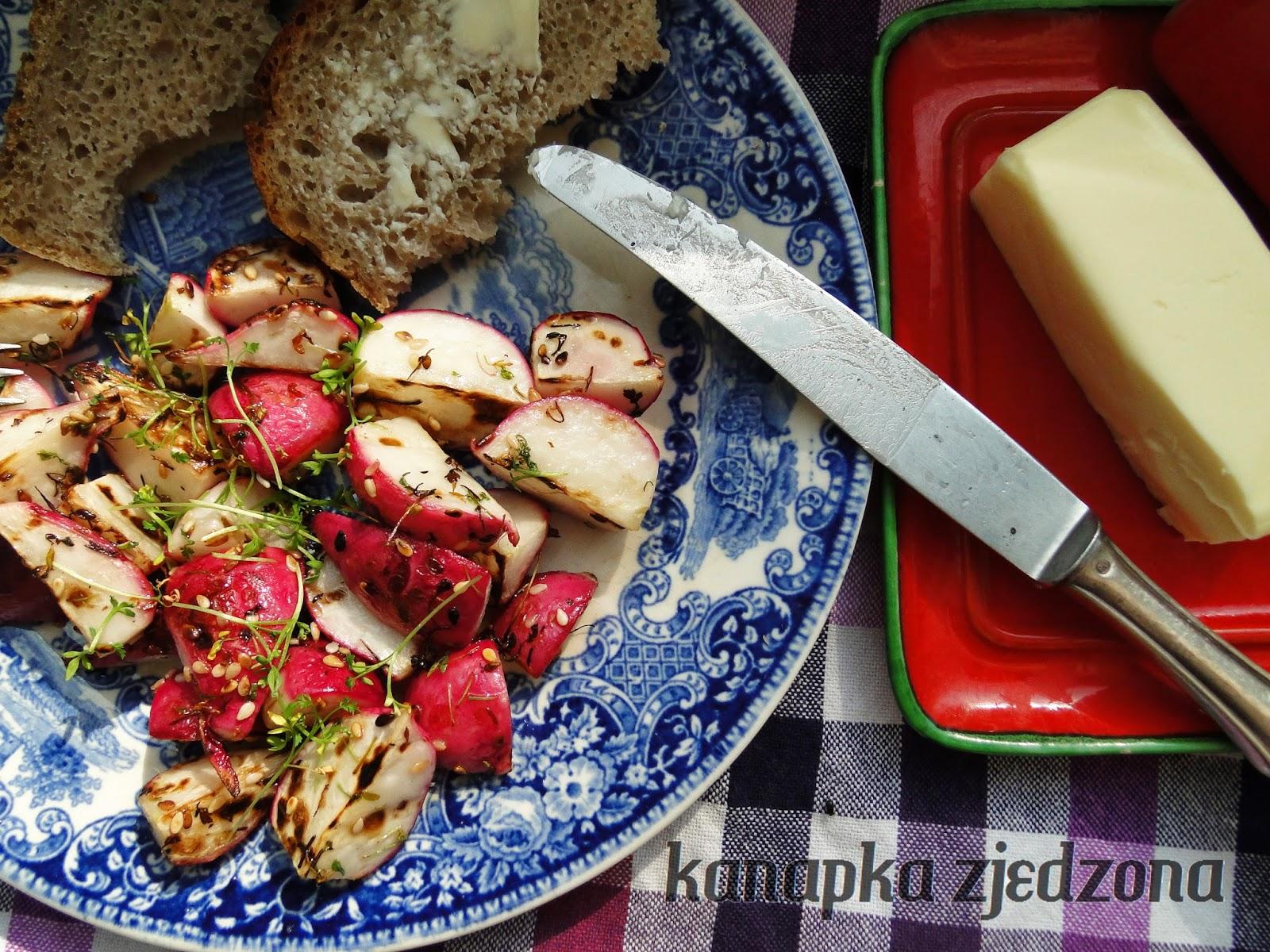 rzodkiewka grillowana gegrillte Rettich grilled radish radis grillé rábano parrilla