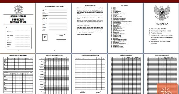 Download Administrasi Guru Kelas Sd Lengkap Format Microsoft Word Sisi Edukasi
