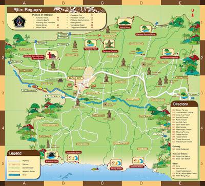 Peta Wisata Kabupaten Blitar