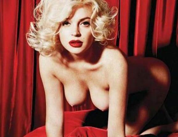 Lindsay Lohan integral desnuda en su película The