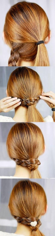 Cara Menata Rambut Panjang Yang Mudah Ala Braid Wapped Ponnytail