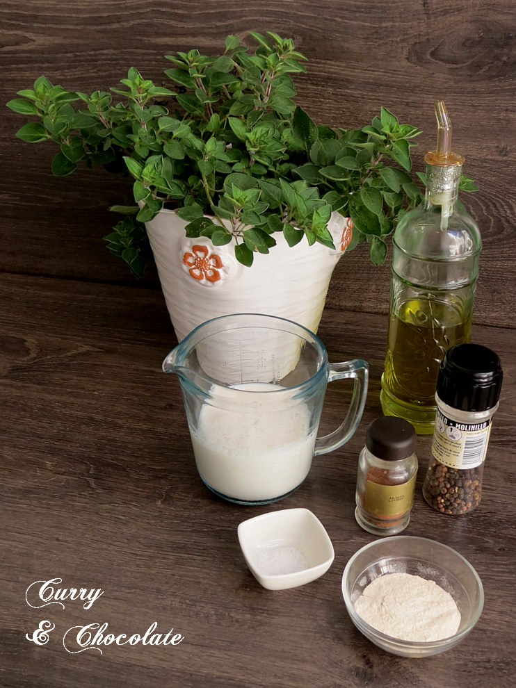 Olive oil bechamel sauce - Ingredients