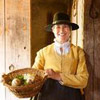 Plimoth Plantation Culinarian Kathleen Wall on Fieldstone Common