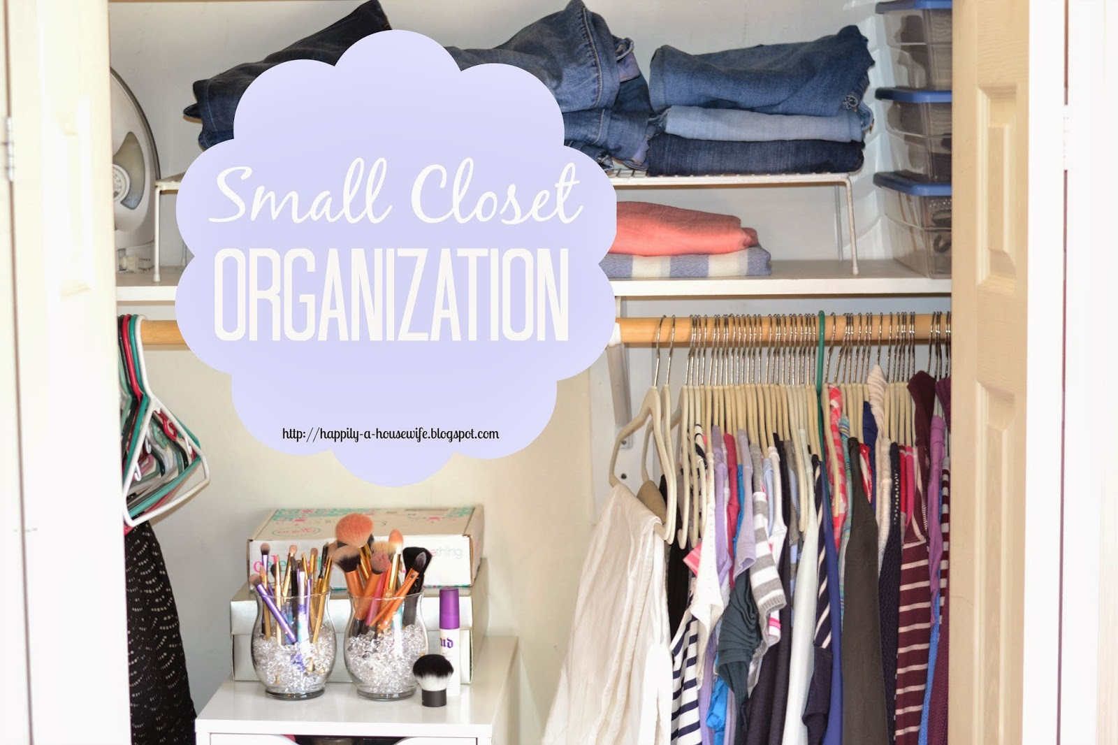 Happily A Housewife Small Closet Organization