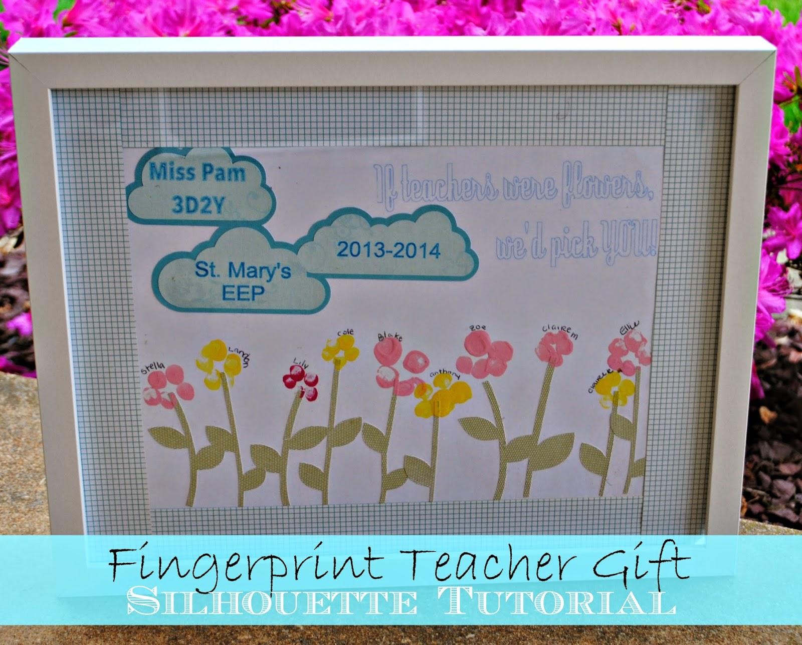 Diy end of the year teacher gift fingerprint art meets silhouette diy end of the year teacher gift fingerprint art meets silhouette solutioingenieria Choice Image