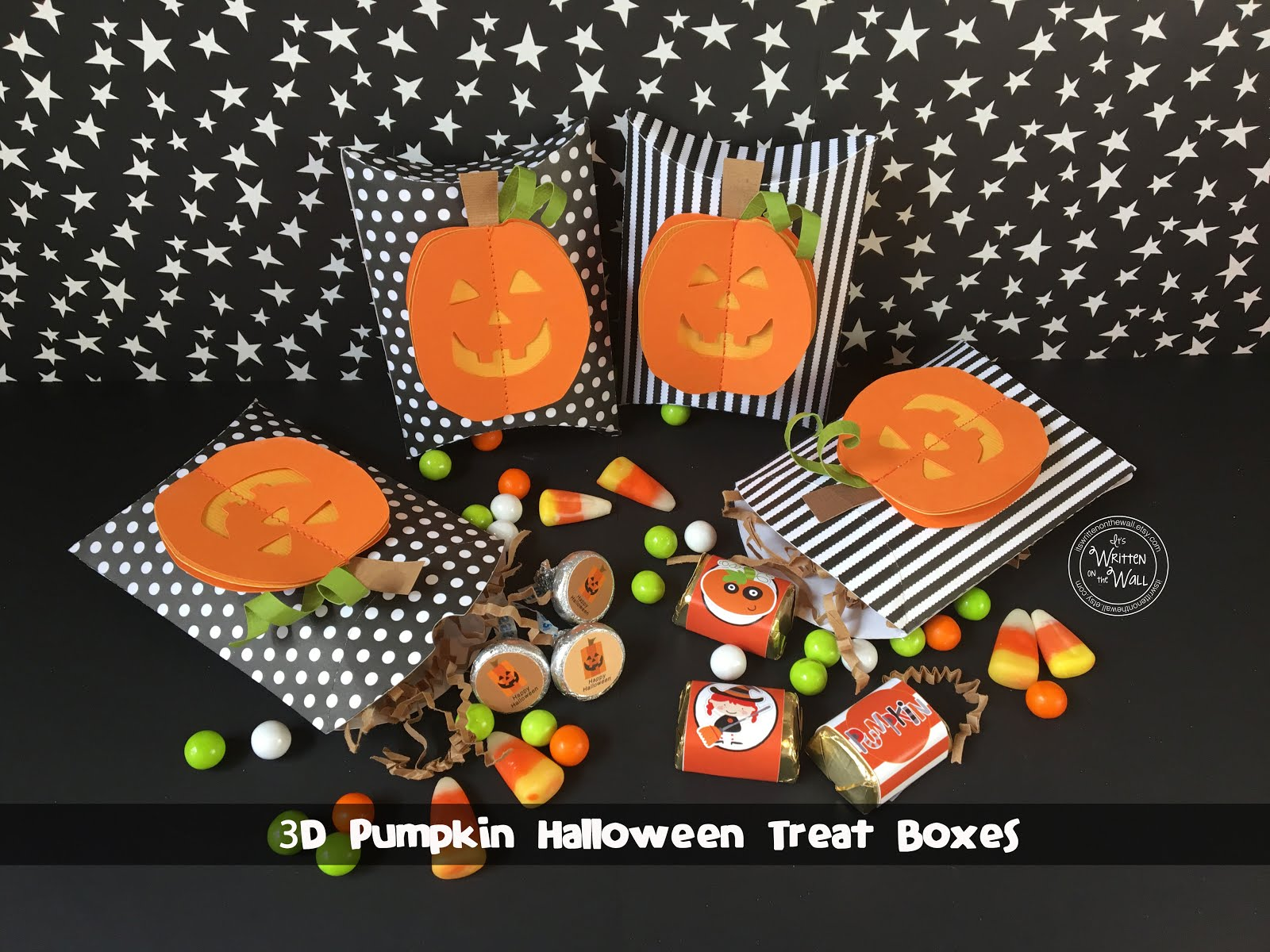 3D Stitched Pumpkin Treat Box