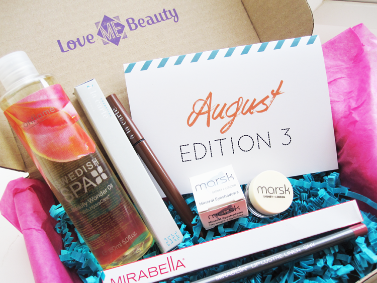 A picture of Love Me Beauty Box August 2014 Menu 3