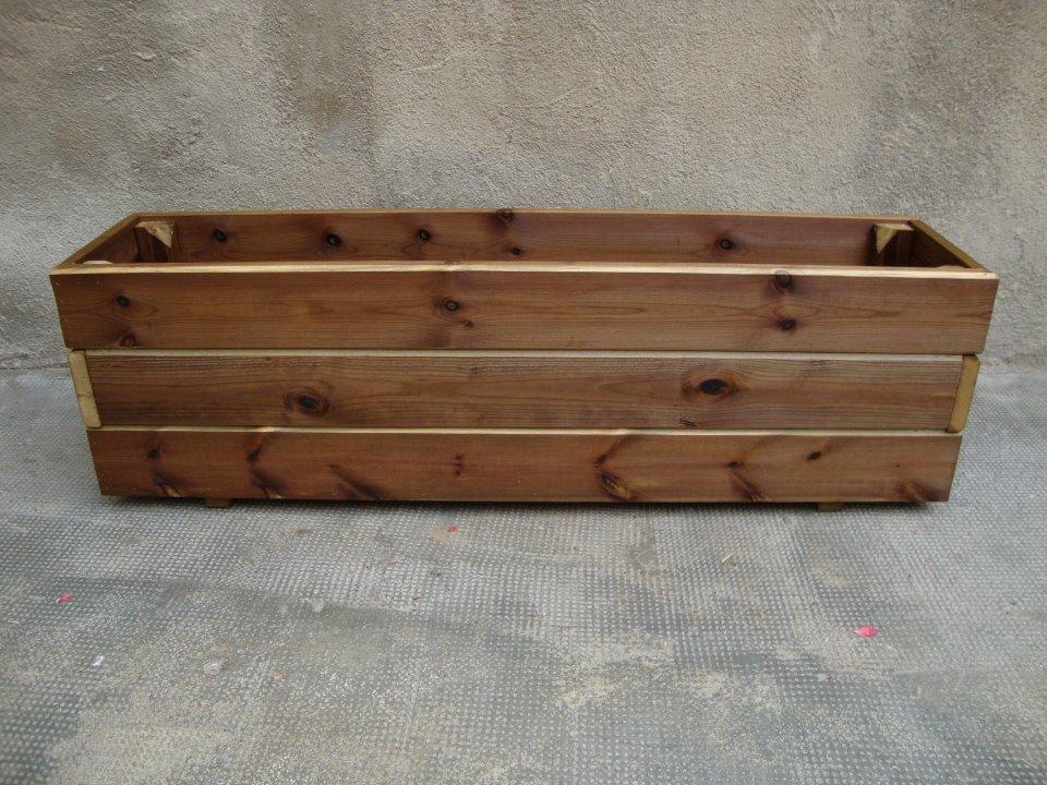 Jardineras de madera tratadas para el exterior en autoclave - Jardinera de madera ...